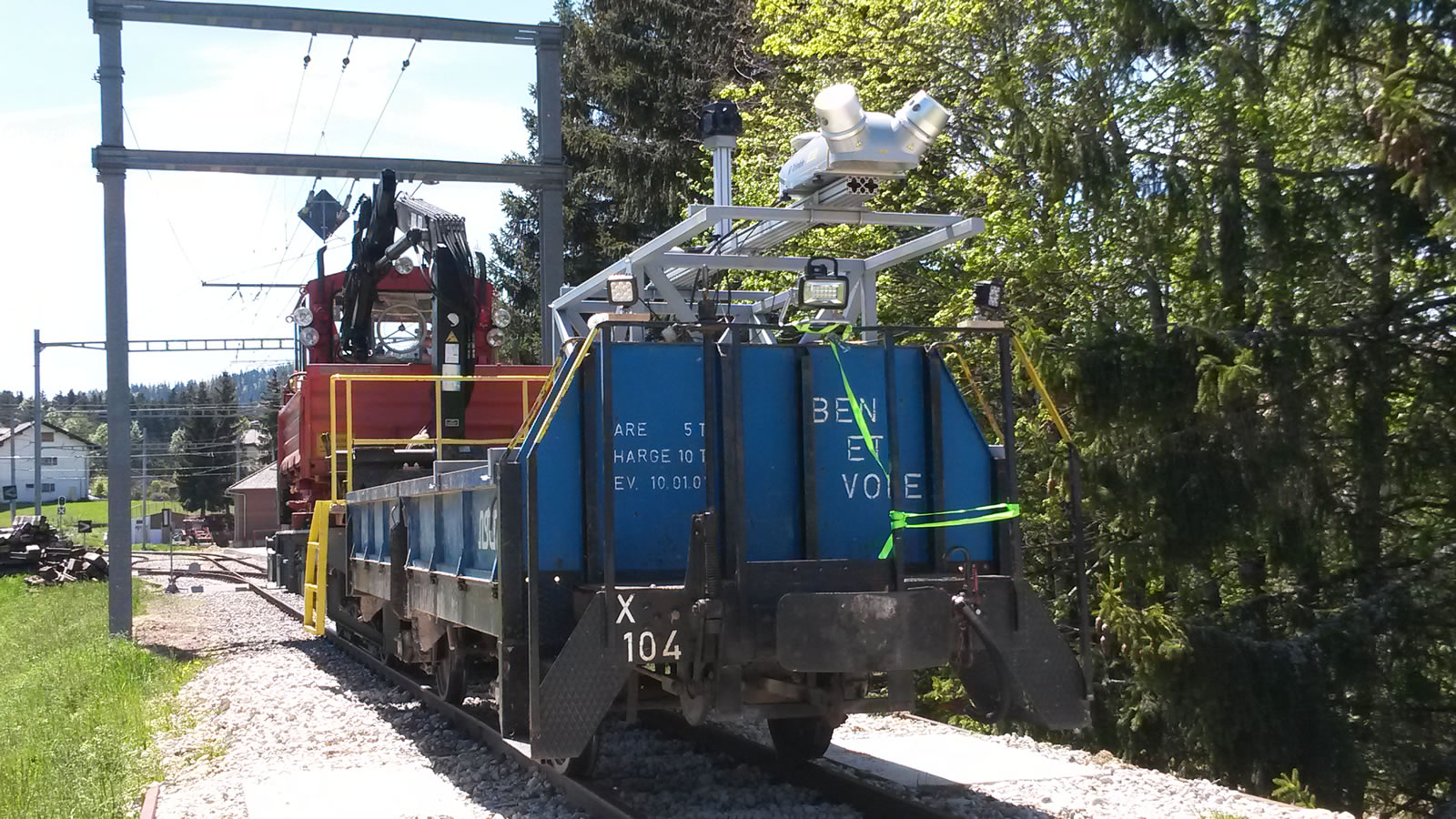 Mobile Mapping d'une ligne ferroviaire