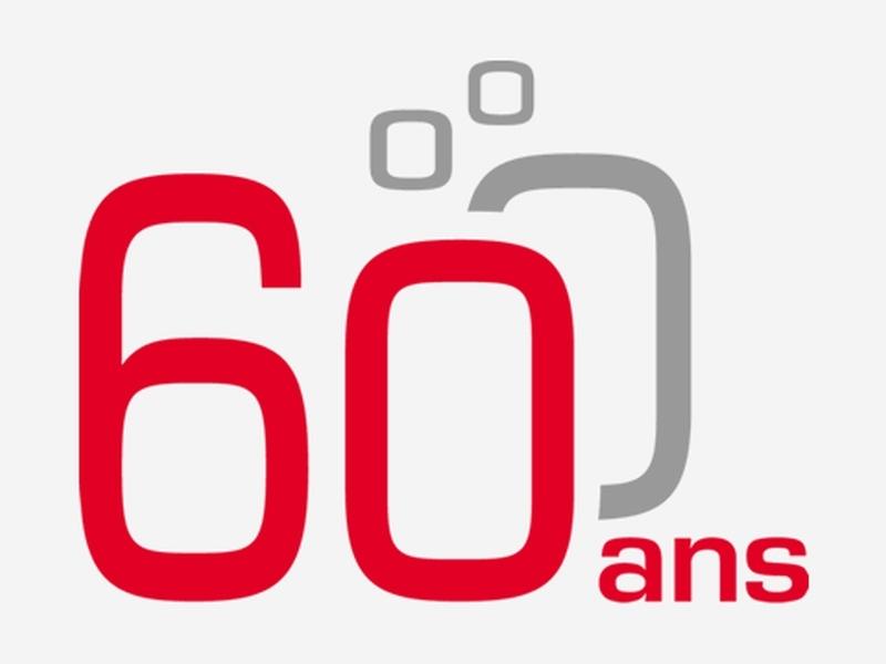 Logo 60e anniversaire HKD Géomatique
